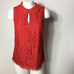 J.crew floral lace top women's extra small blouse